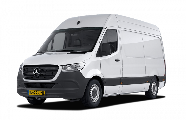 Een Mercedes Sprinter huur je bij INQAR Autoverhuur