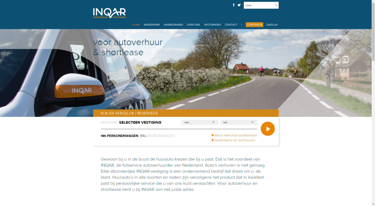 De vorige INQAR website